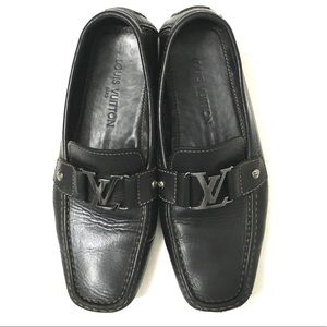 Louis Vuitton Mens Monte Carlo Black Loafers
